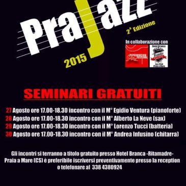 Seminario di chitarra presso PraJazz con Andrea Infusino