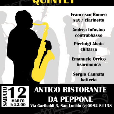"ItalianSwing quartet club concert ""Da Peppone"" San Lucido 12/03/2016"