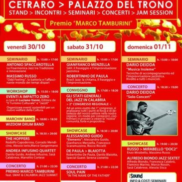Andrea Infusino quartet @ Cetraro Showcase Calabria Jazz Meeting