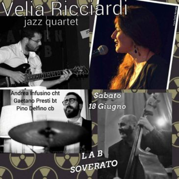 Andrea Infusino con Velia Ricciardi Bossa Nova quartet project a Soverato