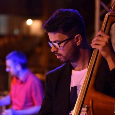 Jazz Manouche with MarieClaude Lebel - detail Andrea Infusino Doublebass