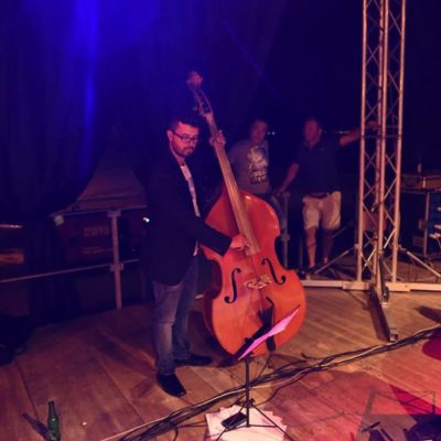 Jazz Manouche with MarieClaude Lebel - detail Andrea Infusino Doublebass