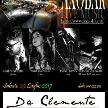Andrea Infusino con i Saxobar @ Da Clemente, Lido La Torre Cetraro
