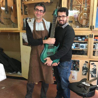 Andrea Infusino e il liutaio Sergio Pugliesi