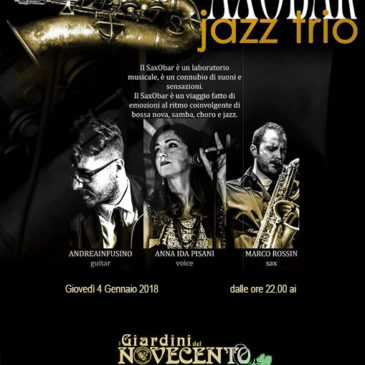 Saxobar jazz trio ai Giardini del Novecento Lamezia