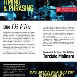 "Masterclass Batteria Pop Enzo Di Vita ""Timing & Phrasing"""