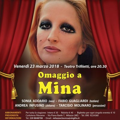 VENERDI' 23 MARZO 2018 Teatro Trifiletti - ore 20.30 - MILAZZO CLASSICA