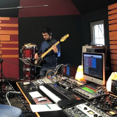 In studio (Pagano) con i Saxobar