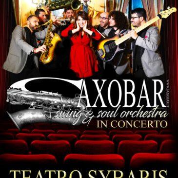 Saxobar, concerto al Teatro Sybaris 21 maggio 2019