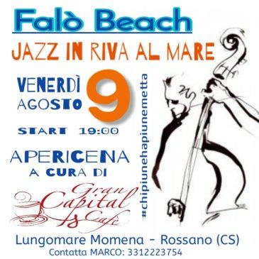 Jazz trio, aperitivo al Falò Beach