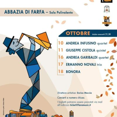 Andrea Infusino 10 ott 2020 al Fara Music 2020